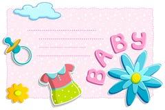 Tarjeta del bebé Imagen de archivo