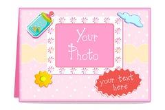 Tarjeta del bebé Foto de archivo