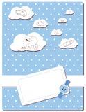 Tarjeta del bebé stock de ilustración