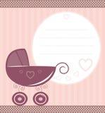 Tarjeta del bebé de la vendimia Fotos de archivo