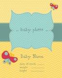 Tarjeta del bebé del saludo Imágenes de archivo libres de regalías