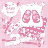Tarjeta del bebé del vector Imagen de archivo libre de regalías