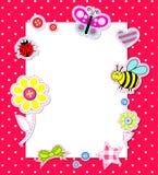 Tarjeta del bebé del vector con los elementos del libro de recuerdos Imagen de archivo