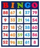Tarjeta del bingo Fotografía de archivo libre de regalías