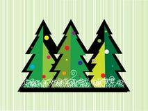 Tarjeta del bosque del invierno Foto de archivo libre de regalías