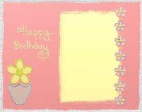 Tarjeta del brillo del feliz cumpleaños stock de ilustración