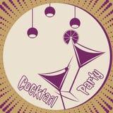 Tarjeta del cóctel libre illustration