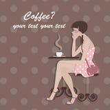 Tarjeta del café Fotografía de archivo libre de regalías