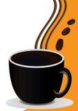 Tarjeta del café con la taza de café Imágenes de archivo libres de regalías