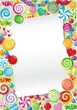 Tarjeta del caramelo Fotos de archivo libres de regalías