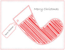 Tarjeta del caramelo de la Navidad Fotografía de archivo