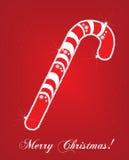 Tarjeta del caramelo de la Navidad Fotografía de archivo libre de regalías