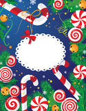 Tarjeta del caramelo de la Navidad Imagen de archivo