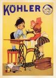 Tarjeta del cartel del vintage de los E.E.U.U. fotografía de archivo libre de regalías