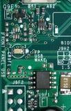 Tarjeta del chip de ordenador y de circuitos Fotografía de archivo libre de regalías