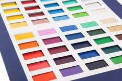 Tarjeta del color imagen de archivo
