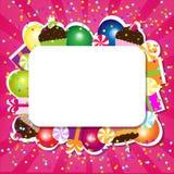 Tarjeta del color del cumpleaños stock de ilustración