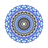Tarjeta del color del ornamento con la mandala Imagenes de archivo