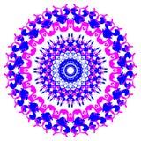 Tarjeta del color del ornamento con la mandala Fotografía de archivo libre de regalías