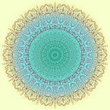 Tarjeta del color del ornamento con la mandala Elementos decorativos de la vendimia Fondo dibujado mano LOGOTIPO Foto de archivo libre de regalías