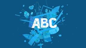 Tarjeta del concepto de ABC Imagenes de archivo