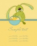 Tarjeta del conejito de pascua Fotografía de archivo