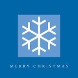 Tarjeta del copo de nieve de la Feliz Navidad Imagenes de archivo