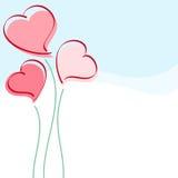 Tarjeta del corazón Fotografía de archivo libre de regalías