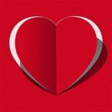 Tarjeta del corazón Fotografía de archivo