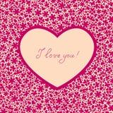 Tarjeta del corazón Imagen de archivo libre de regalías
