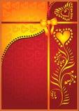 Tarjeta del corazón de la tarjeta del día de San Valentín Foto de archivo libre de regalías