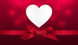 Tarjeta del corazón del día de tarjetas del día de San Valentín Fotografía de archivo libre de regalías