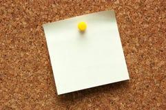 Tarjeta del corcho Fotografía de archivo
