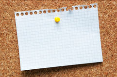 Tarjeta del corcho Imagenes de archivo