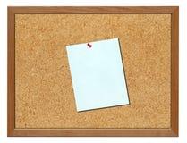 Tarjeta del corcho, aislada Foto de archivo