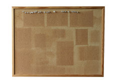 Tarjeta del corcho - aislada Imagen de archivo
