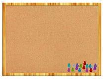 Tarjeta del corcho con los contactos foto de archivo libre de regalías