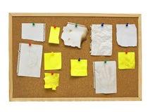 Tarjeta del corcho de la oficina Fotografía de archivo libre de regalías