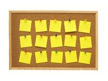 Tarjeta del corcho de la oficina Imágenes de archivo libres de regalías