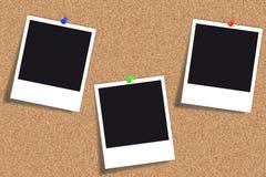 Tarjeta del corcho - tablón de anuncios - tablón de anuncios Imagenes de archivo