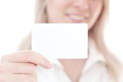 Tarjeta del crédito en blanco Foto de archivo libre de regalías
