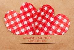 Tarjeta del día de fiesta con los corazones Imágenes de archivo libres de regalías