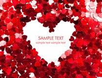 Tarjeta del día de fiesta. Día de tarjetas del día de San Valentín Foto de archivo libre de regalías