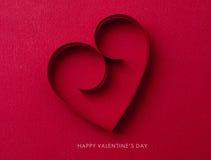 Tarjeta del día de fiesta. Día de tarjetas del día de San Valentín Imagenes de archivo