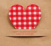 Tarjeta del día de fiesta para el día de tarjetas del día de San Valentín Foto de archivo libre de regalías