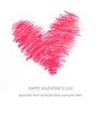 Tarjeta del día de fiesta para el día de tarjetas del día de San Valentín Fotos de archivo libres de regalías