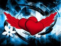 Tarjeta del día de la tarjeta del día de San Valentín s Foto de archivo libre de regalías