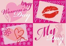 Tarjeta del día de las mujeres Fotos de archivo libres de regalías