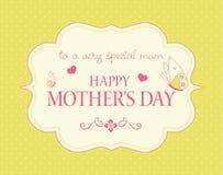 Tarjeta del día de madre Imagen de archivo
