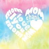 Tarjeta del día de madre Fotografía de archivo